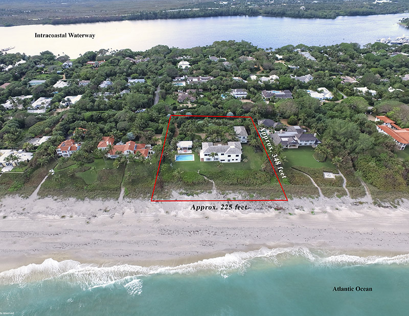Single Family Home for Sale at Classic Old Florida Inspired Beachfront Beauty Jupiter Island, Florida,33455 United States