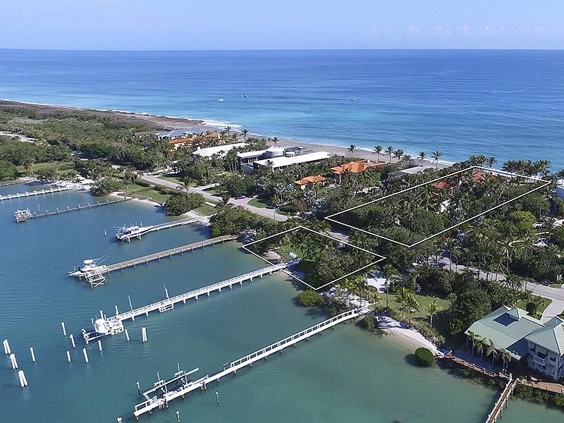 Casa Unifamiliar por un Venta en Breathtaking Ocean to Intracoastal Estate Jupiter Island, Florida,33455 Estados Unidos